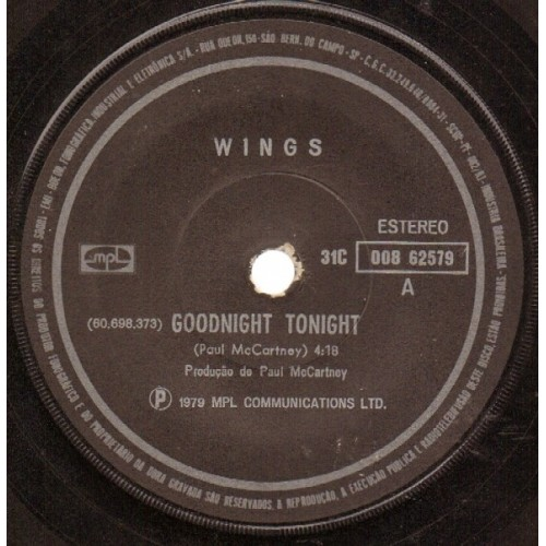 Goodnight Tonight / Daytime Nightime Suffering - 12 INCH